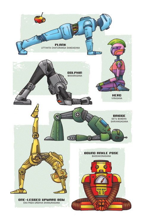 Robot Yoga! New today. It's good for your hinges.