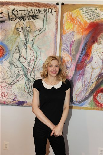 Courtney Love launches her fine arts career with drawings at Fred Torres Gallery in Chelsea, New York.  I don't so much recommend seeing this show because the work itself was not something to see, but I'm interested in how how she has chosen to explore drawing as a medium. Drawing to me is so honest and clean as an art form. Interested to see how she develops as a fine artist.  Milk&HoneyArt via http://fuckyeahcourtneylove.com/