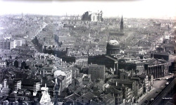 Cool old photo of Liverpool. See the half built Anglican cathedral in the background, plus Impressive Custom House building on the right, where Liverpool ONE is now archimaps:  Aerial view of Liverpool
