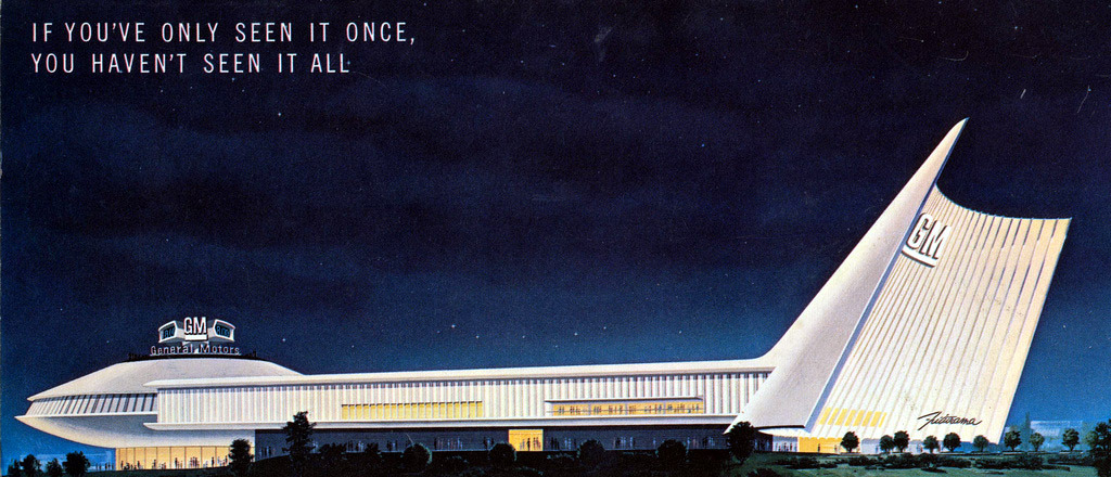 The General Motors Futurama pavilion at the 1964-65 New York World's Fair