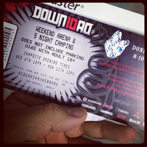It's official! I'm going to #Download2012 (Taken with instagram)