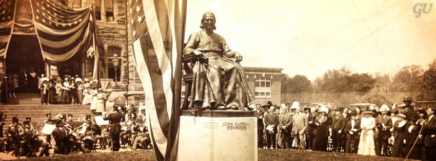The John Carroll Statue turns 100 today! Join us for the celebration.