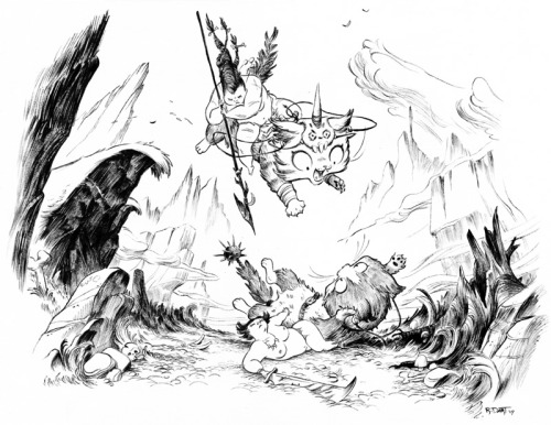 This one of the earliest Battle Kittens drawings, done way back in '09.