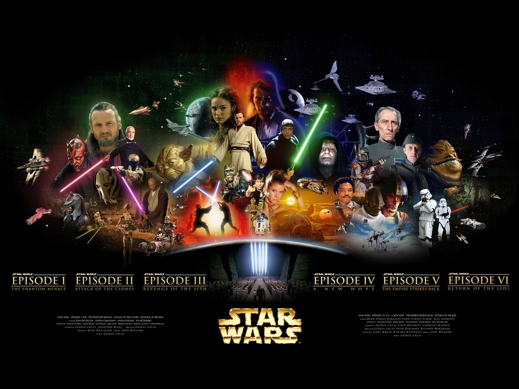 In tribute of all star wars films. May the 4th be with you :)