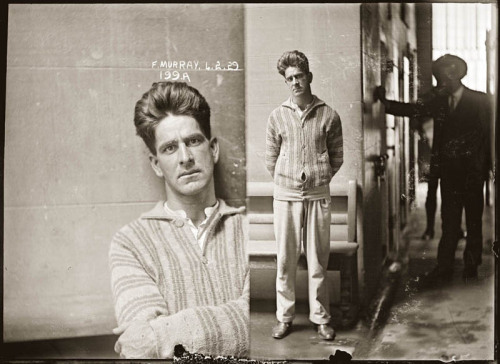 Creative mugshots taken by the New South Wales Police Department in the 30's.  (There's a whole 'femme fatales'  series too.
