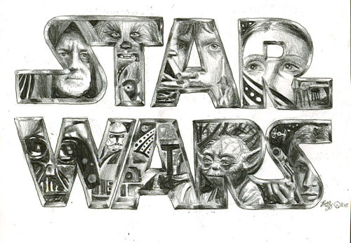 Happy Star Wars Day! May the Fourth be with you. Drawing by dA artist bamboleo.