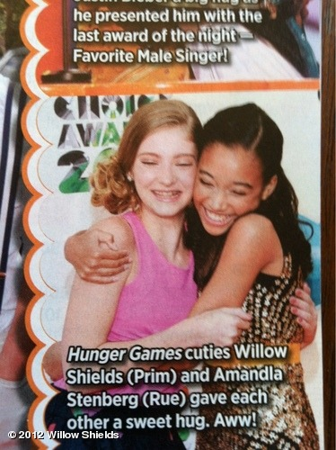 Amandla & I in @BOPandTigerBeat June/July issueView more Willow Shields on WhoSay