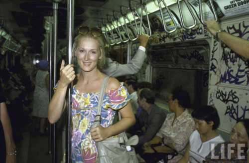 Meryl Streep travels in style.