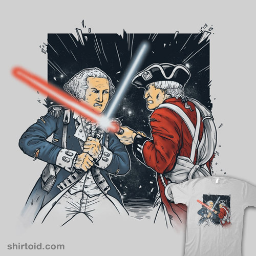 shirtoid:  The British Empire Strikes Back available at Threadless