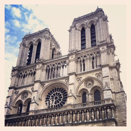 Notre Dame. Beautiful history. Eerily silent inside. -  May 04, 2012 at 03:26AM. /via http://flic.kr/p/bEeF7u