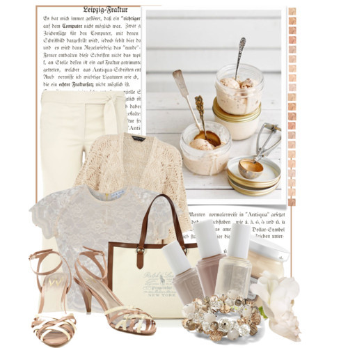 Neutral by queenrachietemplateaddict featuring printed canvas tote bags