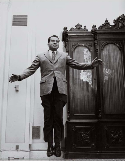 peterfeld:  Richard Nixon jumping.