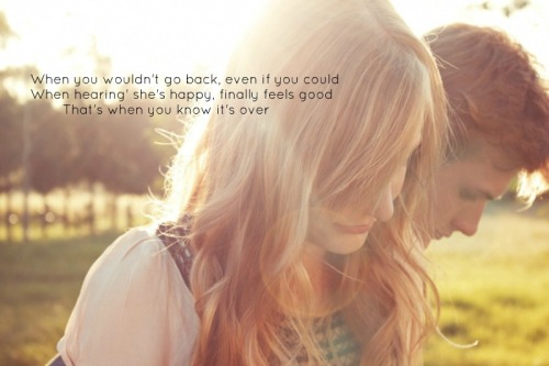 """that's when you know it's over"" lee brice"