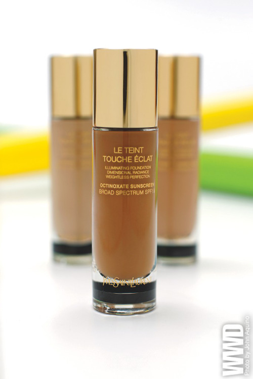 "womensweardaily:  Le Teint Touche Eclat Twenty years after introducing its blockbuster Touche Eclat Radiant Touch, Yves Saint Laurent is introducing a related foundation, called Le Teint Touche Eclat, starting in June.The challenge was to ""find the light of Touche Eclat in a foundation,"" explained Stephan Bezy, international general manager of Yves Saint Laurent Beauté at L'Oréal. ""It's really linked to a technological innovation."""