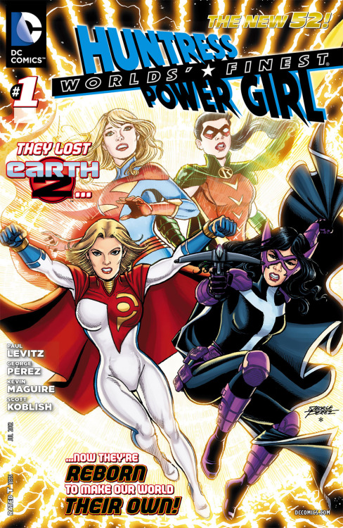Power Girl and Huntress explode into the New 52. Exploding out of plot-points from James Robinson's Earth 2comes Helena Bertinelli Wayne and Karen Starr, more commonly known at Huntress and Power Girl.  Famed scribe Paul Levitz along with George Perez start their new title off with a bang, as the pair focus on two more of Earth 2 heroes, their transport to the main DCU, and the five years they have spent developing their new identities.  Worlds' Finest is fun, clever, and a much more mature take on these two classic female heroes, whose story continues to expand The New 52.  Read the full review at http://www.brokenfrontier.com/reviews/p/detail/worlds-finest-1