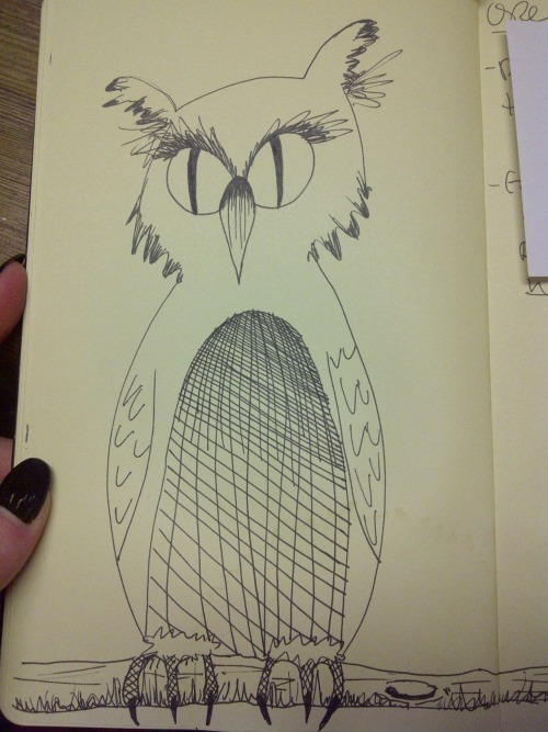An owl I doodled up on a slow day at work.