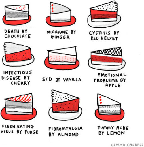 New Desserts by Gemma Correll via Kottke.