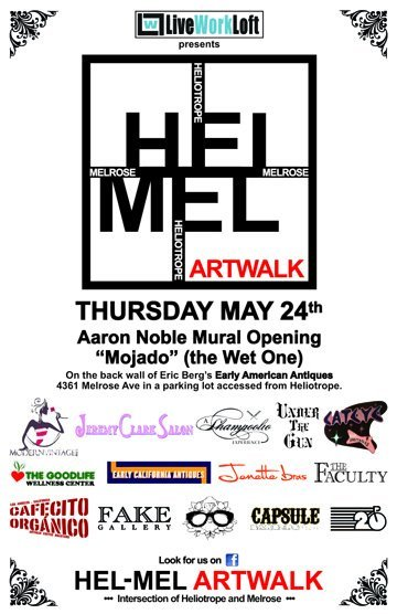 On Thursday May 24th, The Hel-Mel community opens it's doors to art community and all of those who love them. Event starts at 6 pm at the Heliotrope/Melrose Intersection. Bring your friends and family and enjoy what your local artist have to offer. For more information visit the Hel-Mel Art Walk Facebook Page.