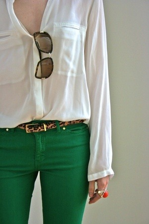 Green Pants. More Outfits.