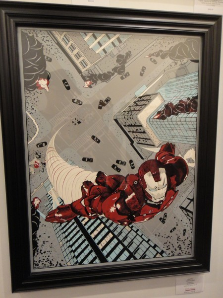 """I AM IRON MAN"" BY NEW FLESH FOR GALLERY 1988'S ""ASSEMBLE"" SHOW ON MAY 3RD 5 COLORS 18"" X 24"" COUGAR 100LB. COVER IN NATURAL"