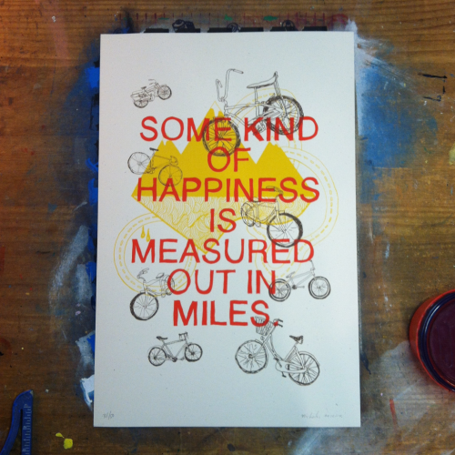 3 color screen print / edition of 50  Available at the 2nd annual Pinchflat Columbus Poster Show at Wild Goose Creative in Columbus, Oh starting tomorrow.