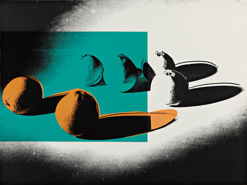 hiredgoons:  ANDY WARHOL | Space Fruit Oranges, 1978 | Screenprint in colors, on Strathmore Bristol paper