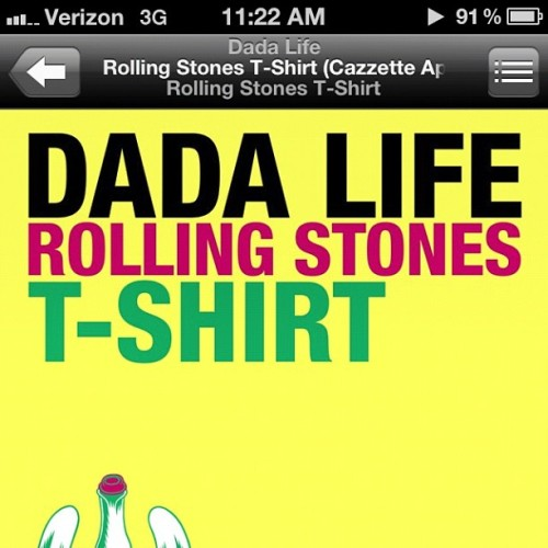 Track to start out the day! #cazzette #dadalife #edm #electro #house #rollingstones #tshirt #vintage #megusta #swag #new (Taken with instagram)