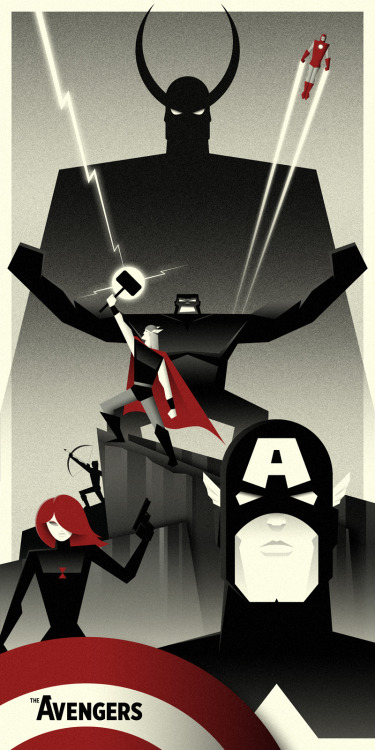 The Avengers by Bruce Yan Inspired by Eric Tan's X-Men poster.  *This concept is not endorsed by Marvel Studios or Paramount Pictures.