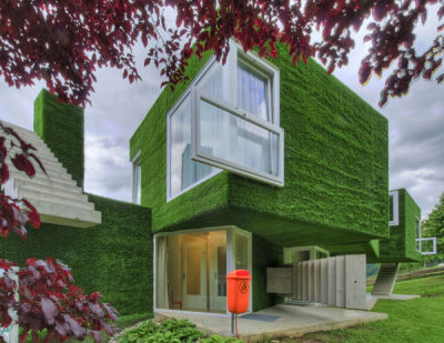 micasaessucasa:  Grass covered home