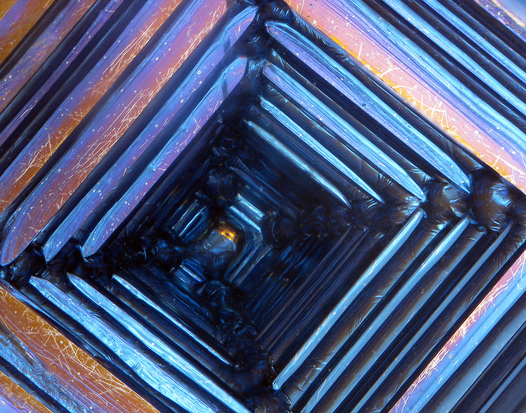 Paul, Bismuth Crystal Interior Structure Digital photograph 2012