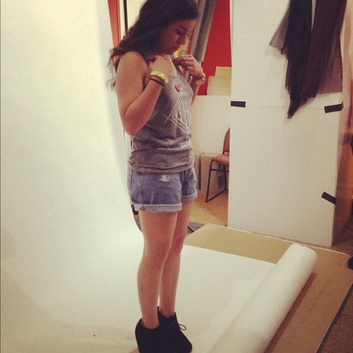 BTS Alexa at 11:11 Apparel's photo shoot (Taken with instagram)