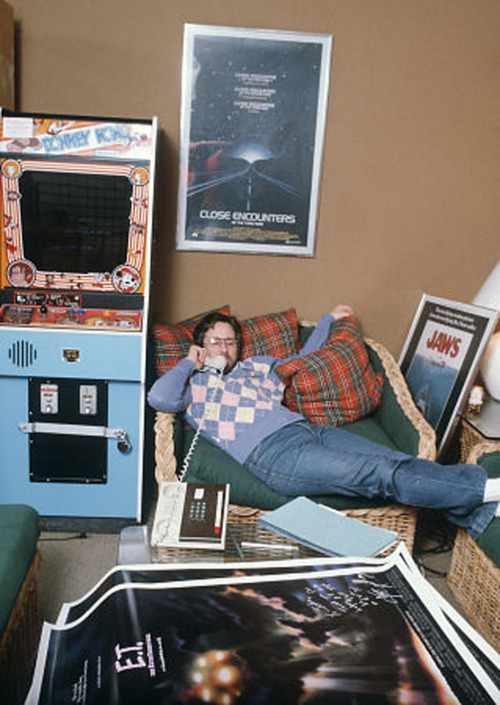 Steven Spielberg in his office in 1982. (via Reddit)