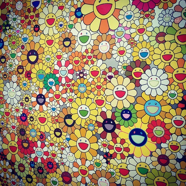 Klein painting - all flowers gold by Murakami #fny12  (Taken with Instagram at FRIEZE Art Fair 2012)