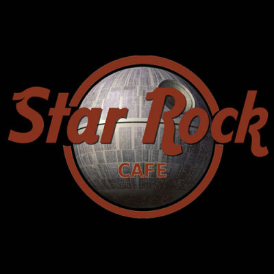 """Star Rock Cafe"" by Royal Bros Art. The über-cool cafe with random Star Wars musical memorabilia hanging on the walls.