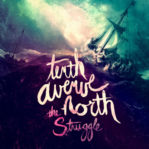 "Looks like the Tenth Avenue North guys just released a slightly different version of their cover for their new album, The Struggle. It looks awesome, wouldn't you agree?! Make sure you read the journal entry Mike wrote on TenthAvenueNorth.com about it too: ""In a world that's still trembling in the wake of the fall, our hearts are desperate for hope.They're hungry for freedom.They're longing for redemption.And here's the good news.In Christ, we have all three.We may not have answers to our questions, but we do have promises for our souls.And the promises of God are twofold.We are free to struggle, and we're also not struggling to be free.Our desire for our upcoming album, The Struggle, is that listeners will walk away with both of these truths still ringing in their ears and burning in their hearts.We are free to fail because there's an ocean of grace that we fall into.But also, we have the promise of a power so strong that it raised Christ Himself, and so we know that, mystery of mysteries, we're also not struggling to be free.Imagine if we believed these things so strongly that we too gave grace to those tangled in their struggles while still calling them to the promise that they can be set free from them?This artwork hopefully communicates this theme as well.We're in this thing together. Some fighting the waves, some breaking backs against the oars, some just trying to hold on. But one thing we know, we have each other, and most importantly, we have Christ.And though it seems like He may have forsaken us, that He's forgotten us, we need only look to the scars in His hands to remember He too entered the storm. He calmed the seas we could not calm. He broke the chains we could not break.So wherever you are, whatever struggle you're walking through, know that you're not alone, and there's grace, every step along the way."" -Mike Donehey"