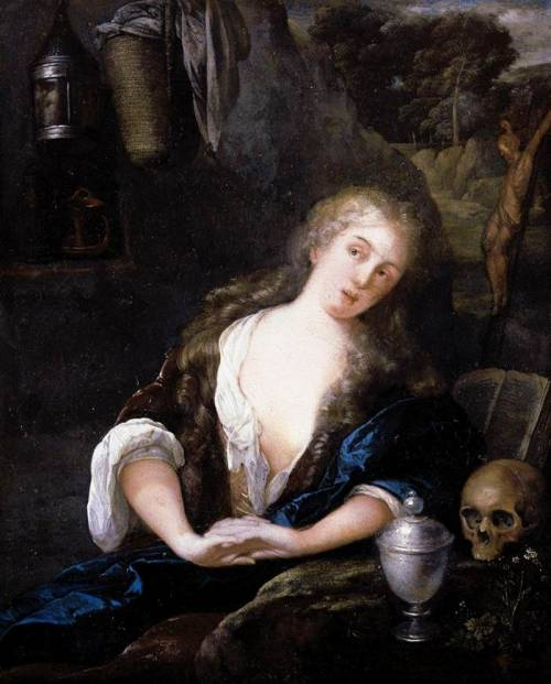 NEER, Eglon van der (b. 1634, Amsterdam, d. 1703, Düsseldorf) The Penitent Magdalene1691Oil on copper, 17 x 13 cmPrivate collection