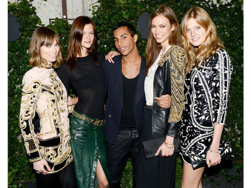 aclockworkpink:  At the Balmain Party, May 2012