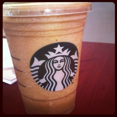 Necessary for a day like today. Sorry Sbux haters! It's Happy Hour time. 🌟🌟🌟 #starbucks #caffeine #goldcard #sucker (Taken with instagram)