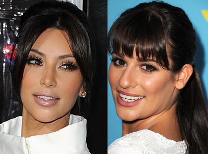 Isn't Lea Michelle looking like Kim Kardashian?