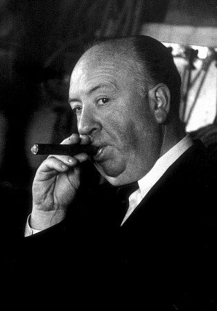Pictured above: Sir Alfred Hitchcock, turning his swag on.