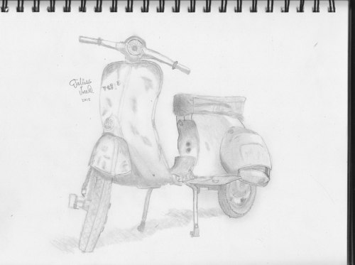 A vespa drawn (via eruma)
