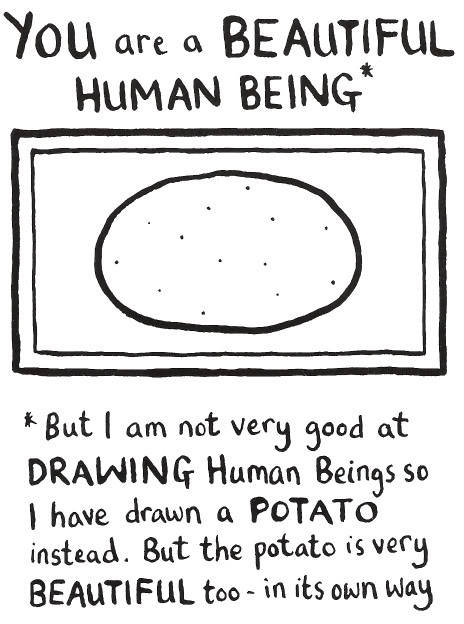 Reblogging because we are human beings but also potatoes. :3