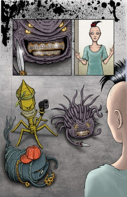 laughingsquid:  Terminally Illin', A Cancer-Ass-Kicking Comic Book  I thought the virus was taking a picture. Haha