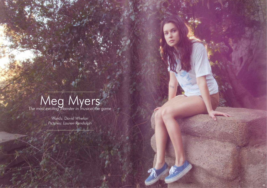 Our girl Meg Myers might be having a moment. We have been obsessed with her voice since we found her in LA back in December and she played Monster for us in an epic, angsty, acoustic apartment performance… cello included. This week alone we spotted the photo above in the summer issue of London based Who's Jack magazine, a segment on Last Call with Carson Daly, and her new hilarious video for Tennessee where she's a Vans wearing Nerf assassin. Oh, and she's giving you her EP for free. Win. -amanda