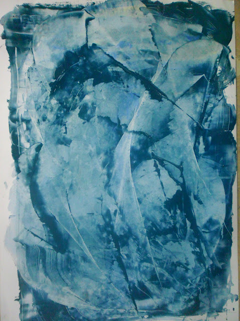 Heres a gestural painting I did. Acrylic with PVA, A2. Gesture, movement and motion.