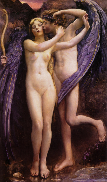 colourthysoul:  Annie Swynnerton - Cupid and Psyche (1891)