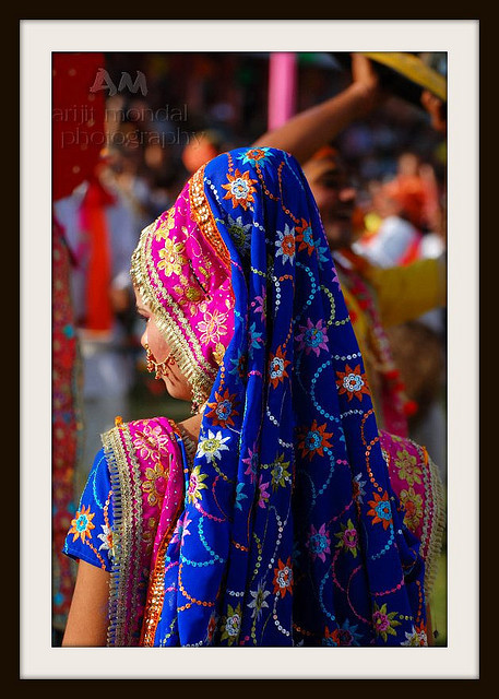 Nanitutu: Colorful Indian Woman by arijit mandal on Flickr.