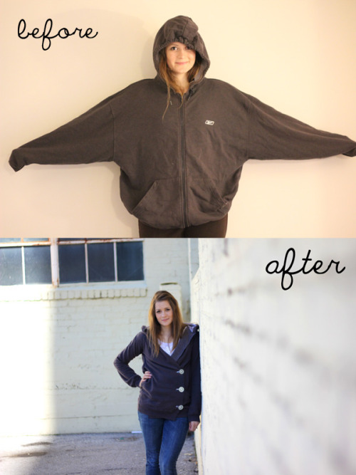 littlecraziness:  (via see kate sew: sweatshirt liposuction)