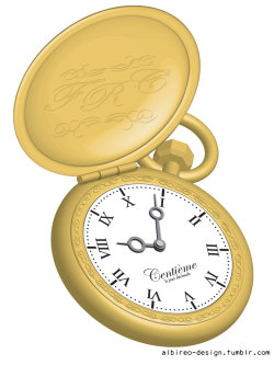 Illustration of a decimal pocket watch. The FRT engraving stands for French Revolutionary Time. (2006)