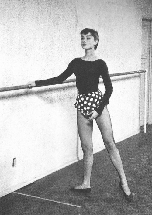 "hollygohardly:  ""My first dream was to be a ballet dancer. I didn't know about success at all. You can only hope to get a combination of happy work and a happy life"" Audrey Hepburn"